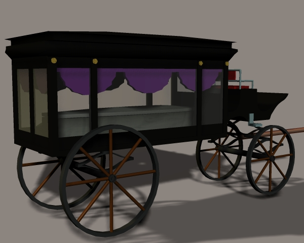 Product picture Horse Drawn Hearse for Poser and  DAZ